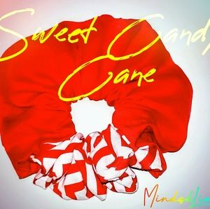 Red & White Candy Cane Scrunchies